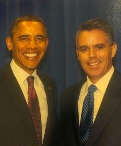 Mike Brennan and President Obama